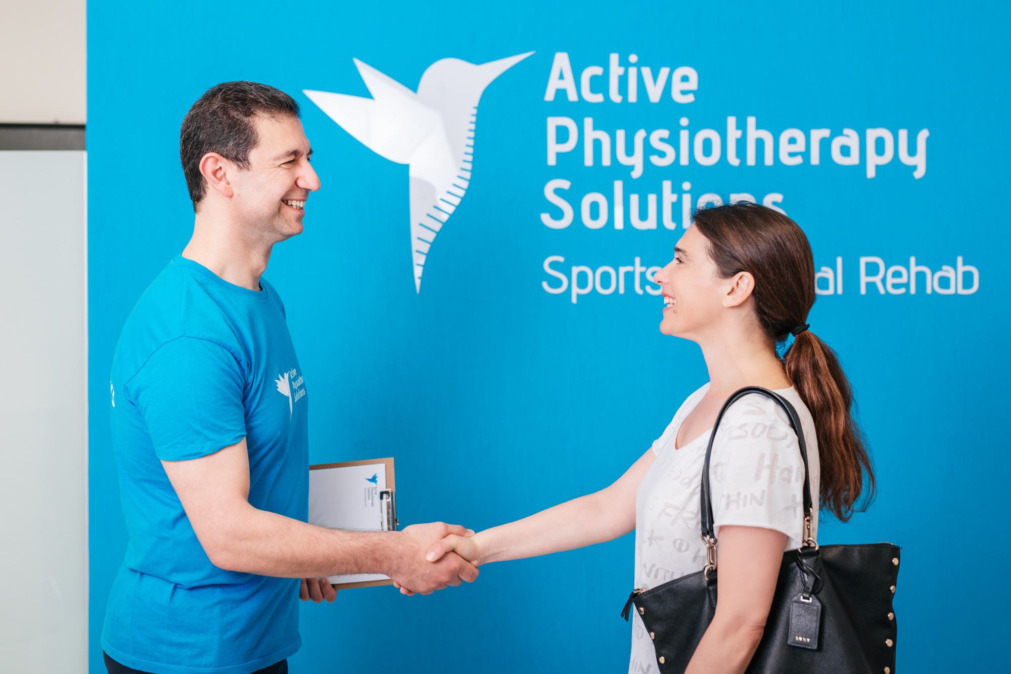 Active Physiotherapy Solutions - Physiotherapist Alexandros Karagiannidis with patient
